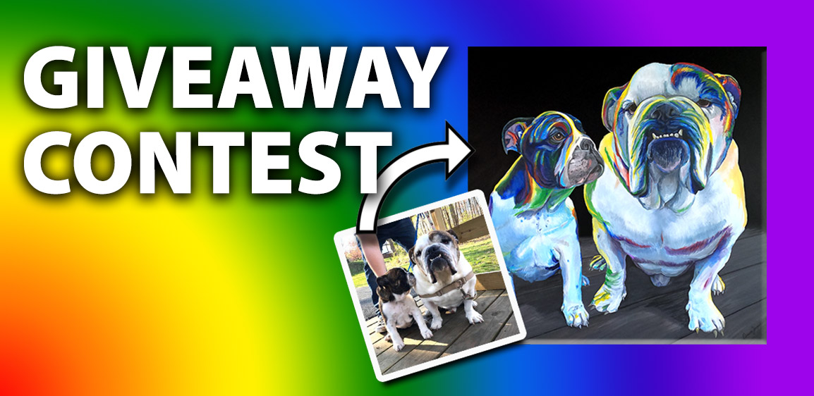 Rainbow Pet Paintings Giveaway Contest