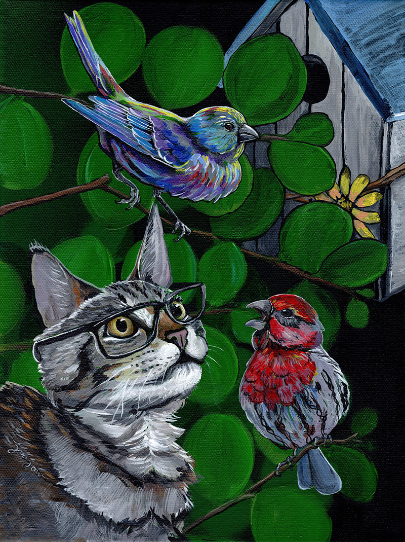 The Cat and the Birds
