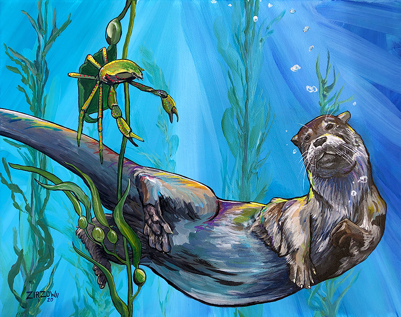 The Sea Otter and the Kelp Crab