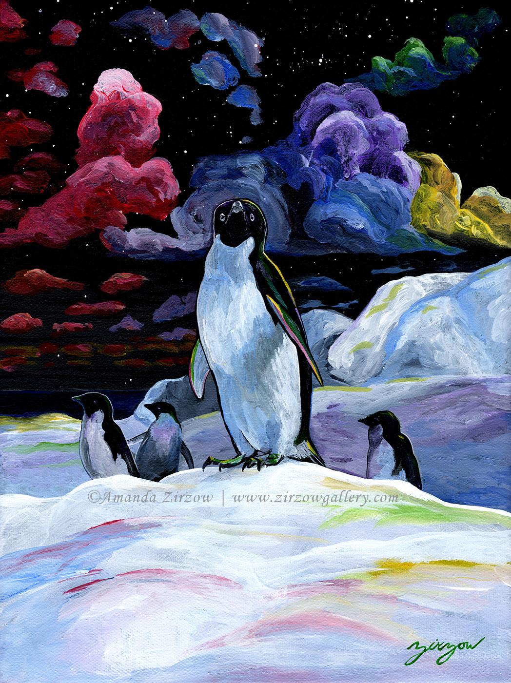 Resilience Adelie Penguins in Antarctica
