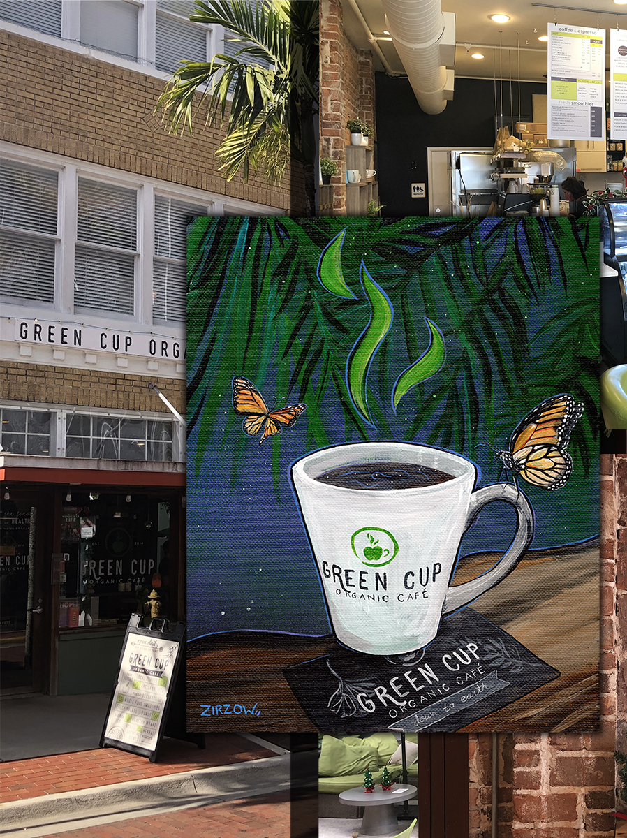 Green Cup Butterfly