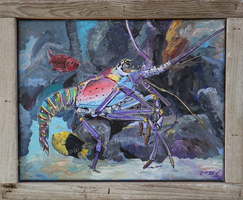Amanda Zirzow with The Lobster, Squirrel, and Rock Beauty