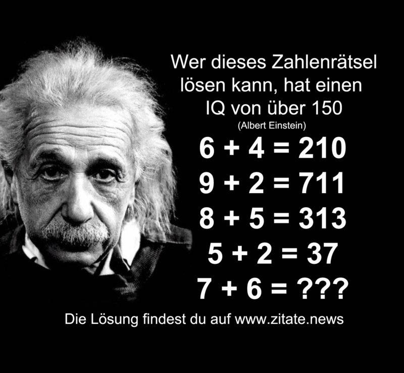 Albert Einstein Zahlenratsel Zitate News