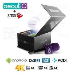 Vision Smart Pro 4K (beoutQ ) , H.265, Amlogic S905D + IPTV SMART TV+ 12 mois
