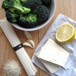 Soba Noodles With Roasted Broccoli, Tofu and Sesame Seeds