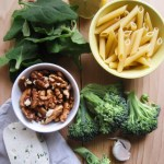 Spinach-Walnut Penne