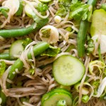 Herby French Bean Noodle Salad
