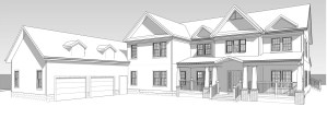 Rendering: residential addition in Leonardo, NJ.