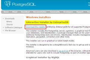 2017-01-14-003-PostgreSQL-Download-Page-Windows-Installer-EnterpriseDB