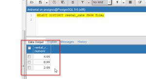 2017-01-30-003-SELECT-DISTINCT-Displaying-Unique-Rental-Rate-Table-Values