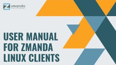 Zmanda User Guide for Linux Clients