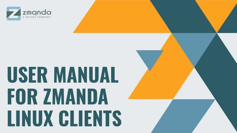 Zmanda User Guide for Linux Clients