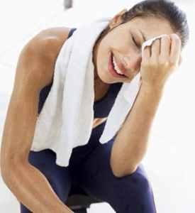 Woman's workout