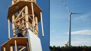 timbertower wooden wind turbine