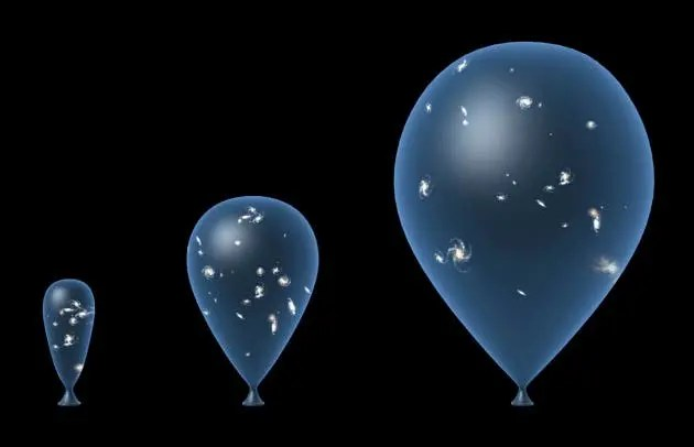 The current accept cosmological model of the formation of the Universe states that it is expanding ever since the Big Bang. It's easy to envision this like a balloon inflating: each point on the balloon is drifting away relative to each other point on the balloon as it inflates, so there is no center of the Universe. (c) TAKE 27 LTD/SPL