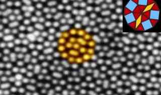 The discovery of quasicrystals —crystalline structures that show order while lacking periodicity—forced a paradigm shift in crystallography. Scanning tunneling microscopy image (measuring 15 nm x 10 nm) showing individual surface atoms in a new two-dimensional quasicrystal. (c) Wolf Widdra