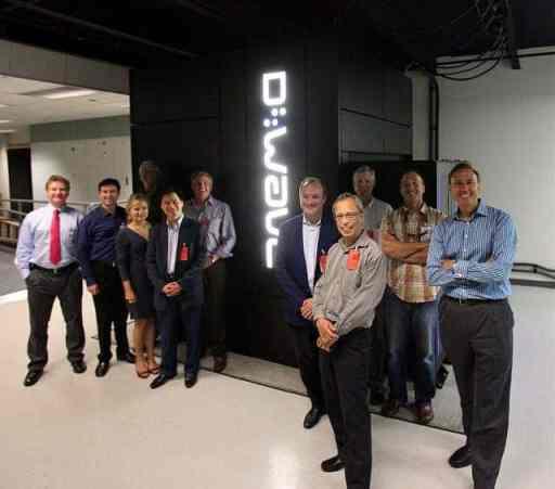D-wave officials alongside one of their computers. Photo: Steve Jurvetson