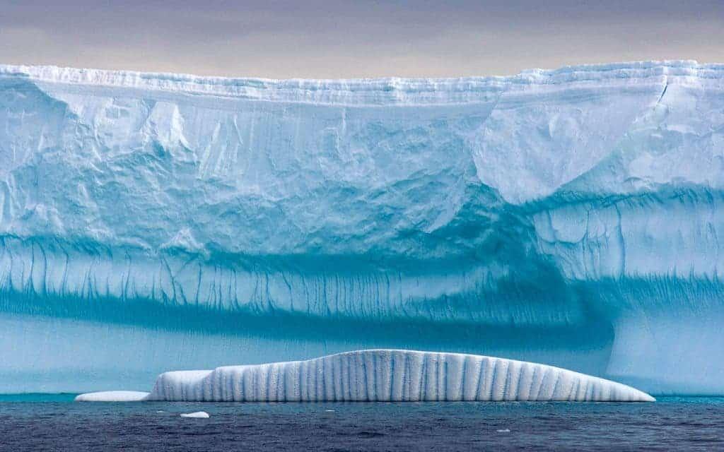 Antarctic ice sheet. Amazing photo shot by  STEVEN KAZLOWSKI/ GETTY IMAGES