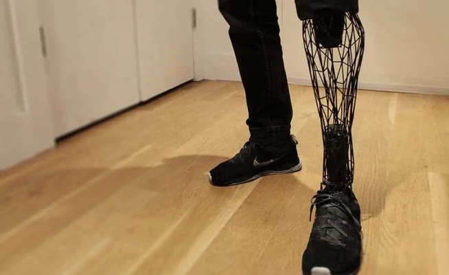 The video game-esque Exo prosthetic developed by New York based designer William Root. Credit: William Root