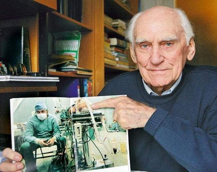 Tadeusz Zitkevits, o paciente que recebeu o transplante cardíaco, 25 anos após a cirurgia. Imagem: National Geographic.