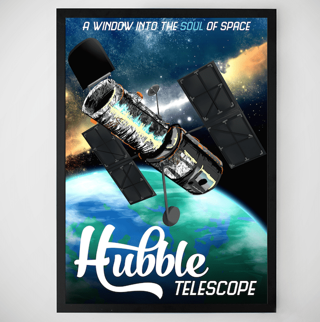 retro space poster