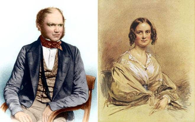 Charles Darwin and his wife Emma: