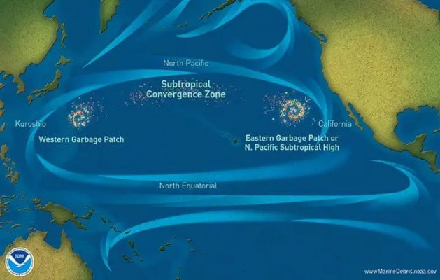 Marine debris accumulation locations in the North Pacific Ocean. (NOAA Marine Debris Program)