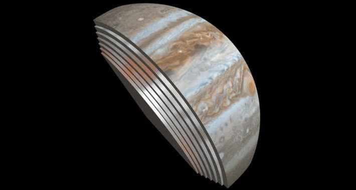 Jupiter's cloud bands extend hundreds of kilometers beneath the cloud deck. Credit: NASA/JPL-Caltech/SwRI/GSFC