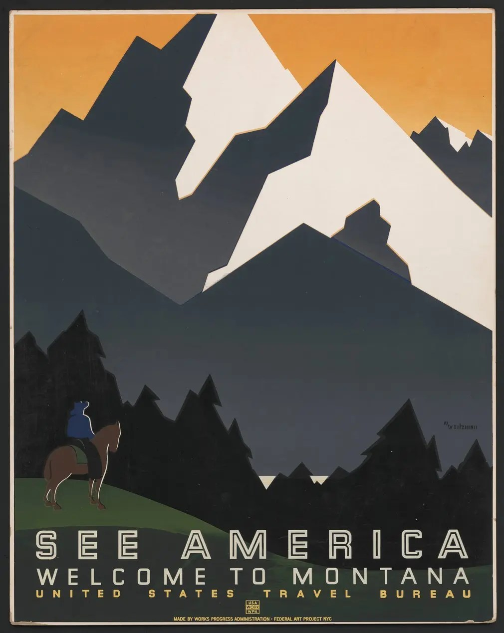 Montana, United States Travel Bureau, late 1930s.