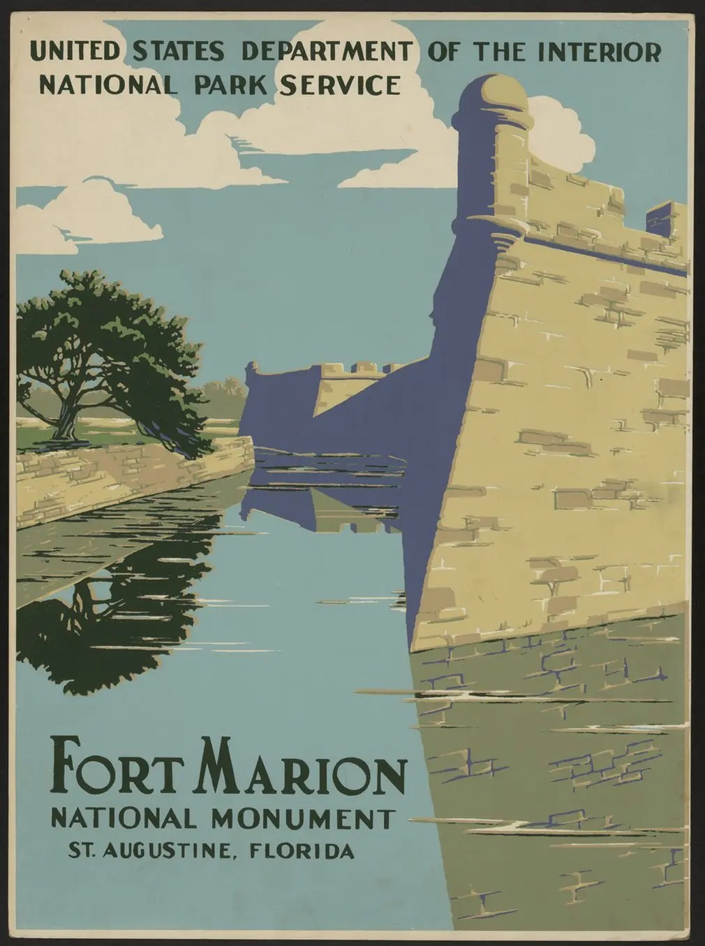 Fort Marion in Florida, 1938.