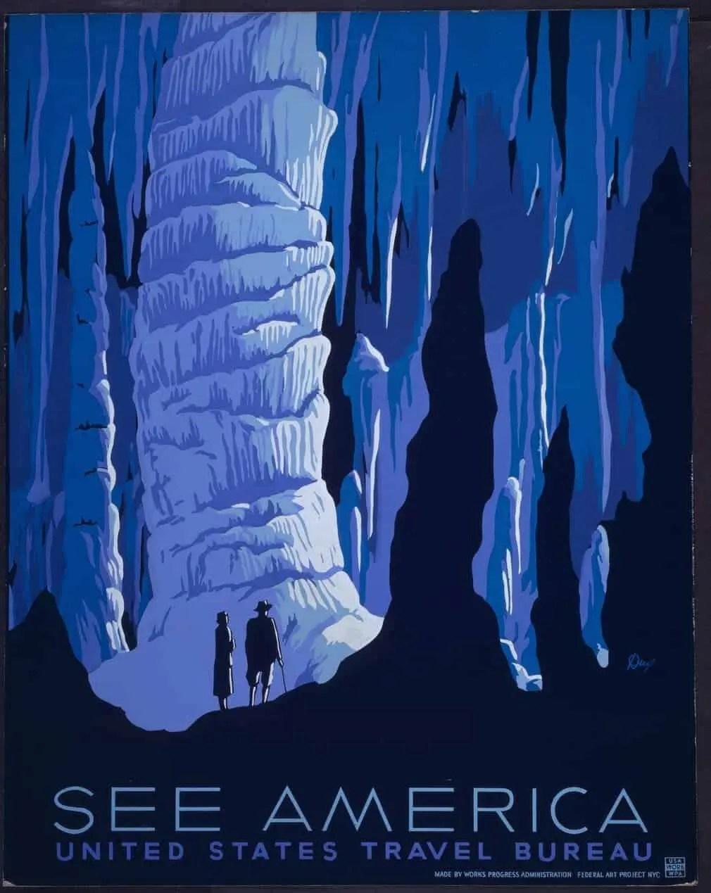 Poster promoting tourism in America, late 1930s.