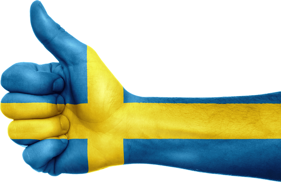 sweden thumbs up