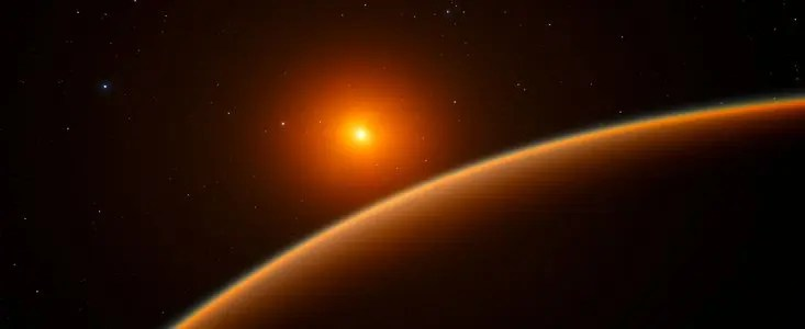 Artist impression of LHS 1140b, a newly found exoplanet which astronomers think it's our best candidate yet for alien life. Credit: ESO.