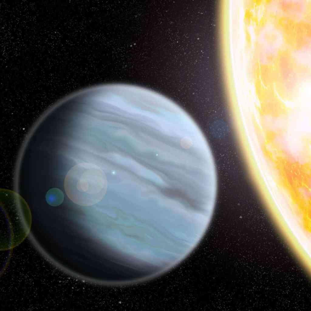 Artist impression of KELT-11b, a 'styrofoam'-density exoplanet orbiting a bright star in the southern hemisphere. Credit; Walter Robinson/Lehigh University.