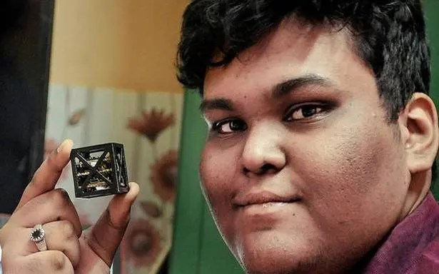 This 18-year-old from India won a NASA competition for the lightest satellite in the world. Credit: Space Kidz India.
