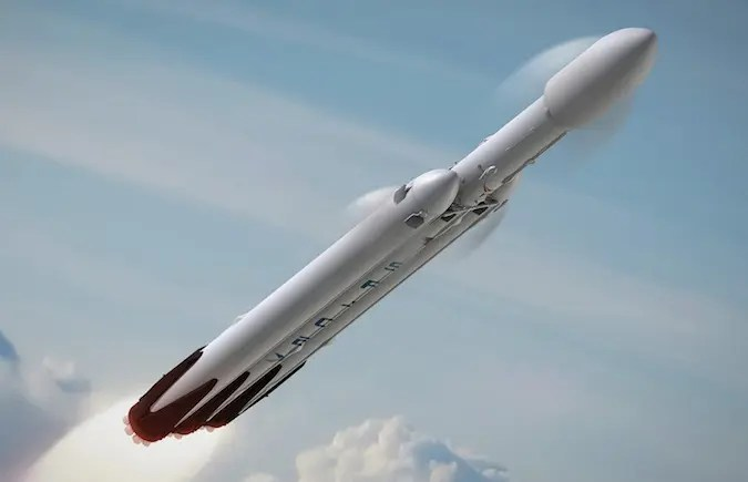 Falcon Heavy, artist impression. Credit: SpaceX.