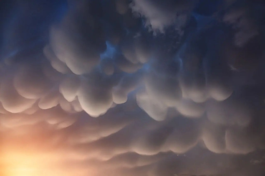 Mammatus clouds in the Nepal Himalayas. Also known as 'mammary clouds', Credit: Wikimedia Commons.