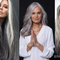 Siwe włosy długie czy krótkie?