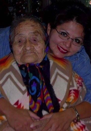 Peters with her grandmother, who passed away in 2008.