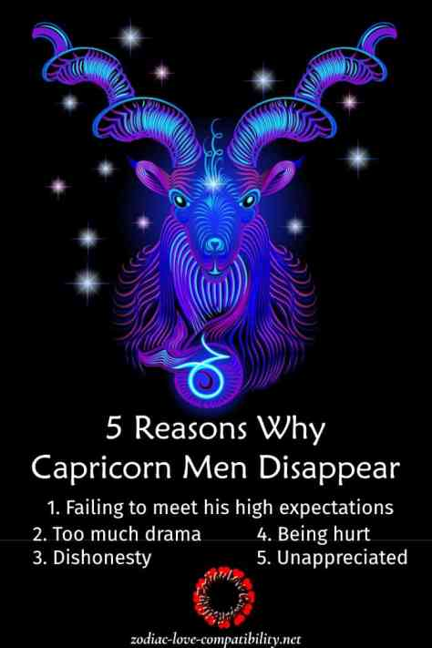 why capricorn men disappear