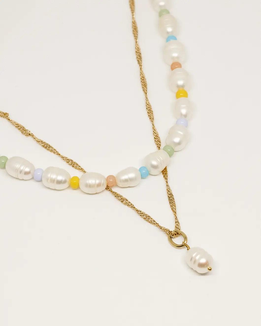 Collier perles de rocailles perles de culture