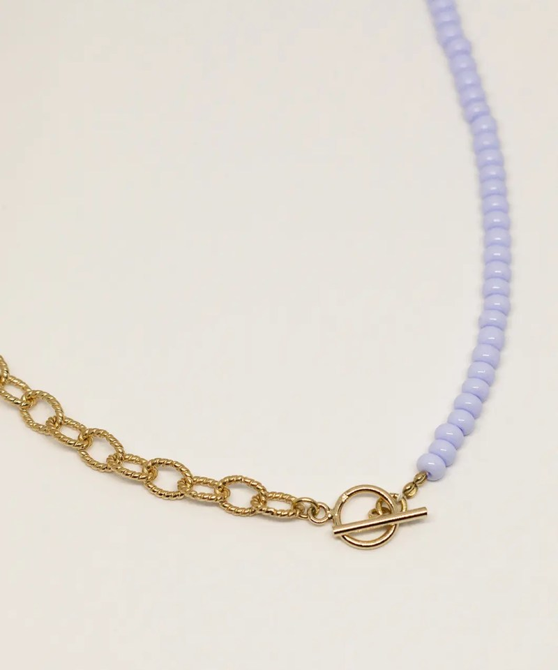 Collier perles de rocailles