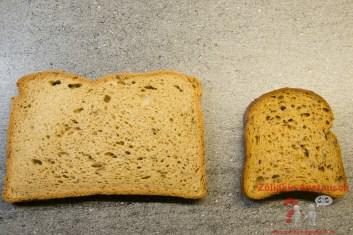 Vergleich Genius Dunkles Brot -Schär vital