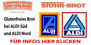 Glutenfreies Brot bei ALDI Süd und Nord