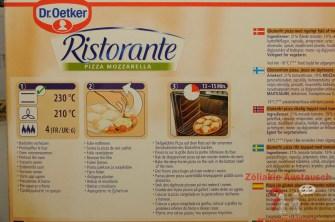Zubereitung Dr. Oetker Pizza