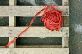 Stripping into yarn
