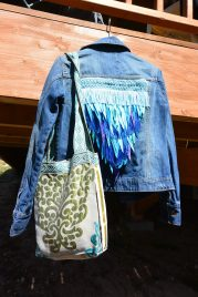 Unicorn Jacket with upcycled bag by Laura from Las Makers
