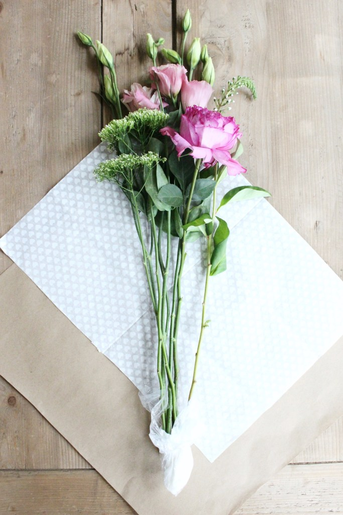 DIY: Paper Wrapped Bouquet - Zoe With Love