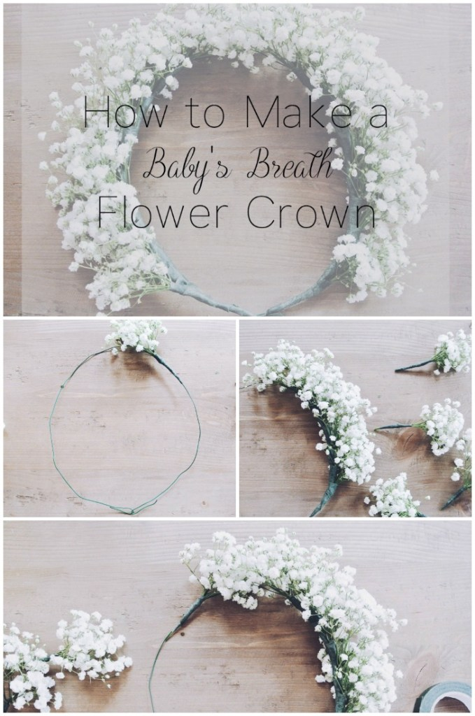 How to Make a Baby's Breath Flower Crown - Zoe With Love