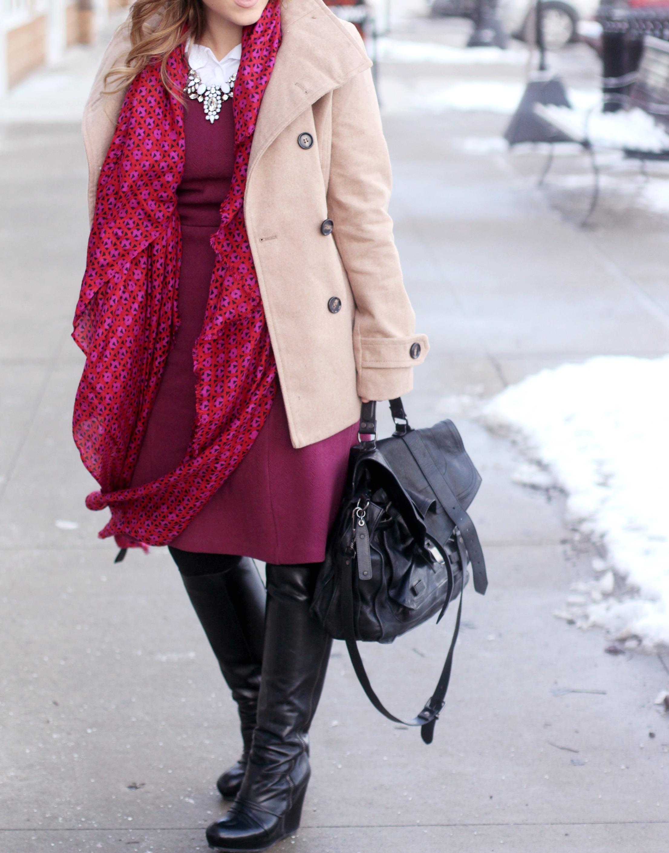 wearing dresses in winter zoe with love